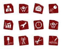 Grunge icon stickers 2 Stock Photos