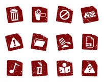 Grunge icon stickers 3 Royalty Free Stock Photography