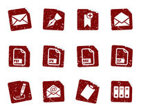 Grunge icon stickers 4 Royalty Free Stock Images