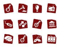 Grunge icon stickers 5 Stock Photo