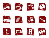 Grunge icon stickers 7 Royalty Free Stock Photo