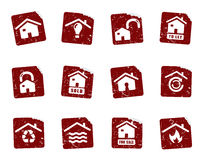 Grunge icon stickers 8 Royalty Free Stock Photo