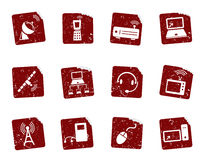 Grunge icon stickers 9 Royalty Free Stock Photos