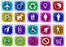 Grunge icons. Different grunge icons for web Royalty Free Stock Images