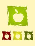 Grunge icons. Set of icons of apples in a grunge style Royalty Free Stock Image