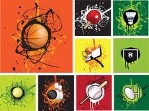 grunge ikony sporty Zdjęcia Royalty Free