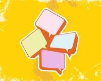 Grunge  illustration. Grunge  textbox on yellow background Stock Images