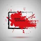 Grunge Illustration Black and red Paint Spray Texture, Background to Create  Effect . Modern design. Stock Photo