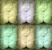 Grunge illustration with glasses Royalty Free Stock Images