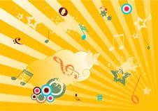 grunge ilustraci muzyka Zdjęcie Stock