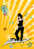 grunge ilustraci muzyka Zdjęcia Royalty Free