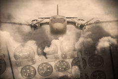 Grunge image of aircraft texture Royalty Free Stock Photos