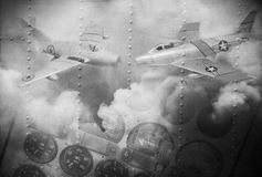Grunge image of aircraft texture Stock Photo