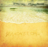 Grunge image of a beach Stock Images
