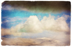 Grunge image of blue sky Royalty Free Stock Image