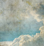 Grunge image of blue sky Stock Image