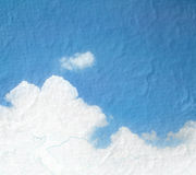 Grunge image of blue sky with clouds and colorful.Colorful ballo Stock Images