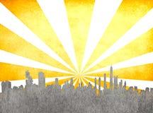 Grunge image of cityscape Royalty Free Stock Image