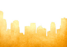 Grunge image of cityscape from old paper Royalty Free Stock Photography