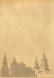 Cityscape from old paper Stock Image