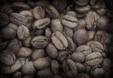 Grunge image of coffee beans Royalty Free Stock Image