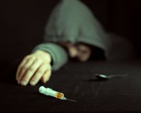 Grunge image of a depressed drug Stock Photos