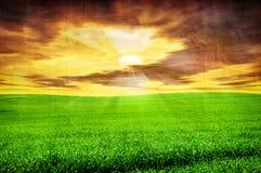 Grunge image of landscape Stock Photos