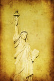 Grunge image of liberty statue royalty free illustration