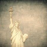Grunge image of liberty statue Royalty Free Stock Photos