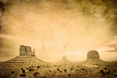Grunge image of Monument Valley. Landscape Stock Image