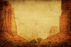 Grunge image of Monument Valley. Landscape Royalty Free Stock Images