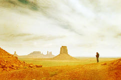 Grunge image of Monument Valley. Landscape Stock Photography