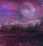 Grunge image of moon landscape Royalty Free Stock Photo