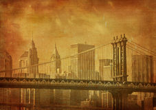 Grunge image of new york city Royalty Free Stock Images
