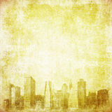 Grunge image of new york skyline Royalty Free Stock Image