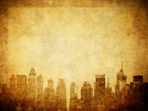 Grunge image of new york skyline Royalty Free Stock Photos
