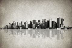 Grunge image of new york skyline Royalty Free Stock Image