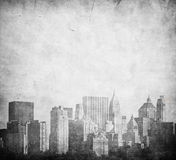 Grunge image of new york skyline Stock Image