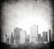 Grunge image of new york skyline Royalty Free Stock Photo