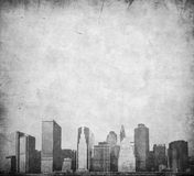 Grunge image of new york skyline Royalty Free Stock Photo