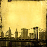 Grunge image of new york skyline Royalty Free Stock Images