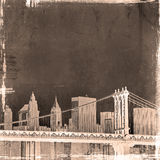 Grunge image of new york skyline Stock Images