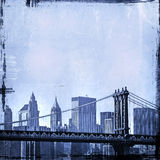 Grunge image of new york skyline Stock Photography