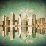Grunge image of new york Stock Image