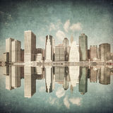 Grunge image of new york Royalty Free Stock Photos