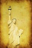 Grunge Image Of Liberty Statue