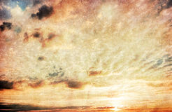 Grunge image ofsunset  sky Royalty Free Stock Photos