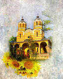 Grunge image Orthodox Church, Royalty Free Stock Images