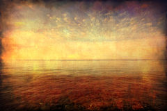 Grunge image of seascape Royalty Free Stock Image