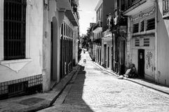Grunge image of a shabby street in Havana Royalty Free Stock Images